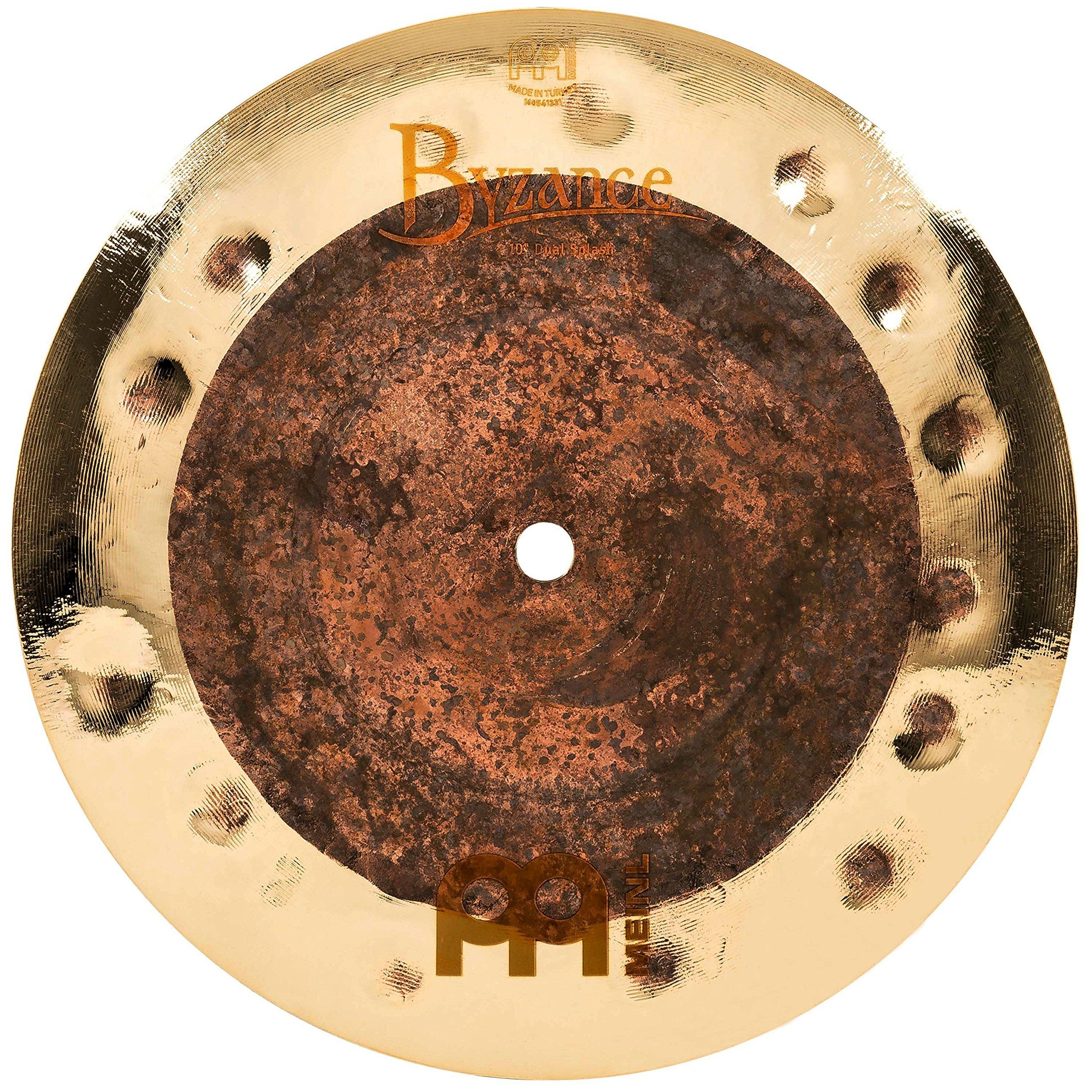 Meinl Cymbals B10DUS Byzance Extra Dry 10-Inch Dual Splash Cymbal (VIDEO) by Meinl Cymbals