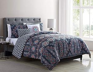 VCNY Home Jaline Comforter Set, King, Multi