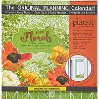 Florals Plan-It 17 Month 2019 Planning Calendar: Includes Magnetic Hanger