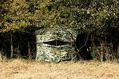 great materials to blend perfectly - Primos Double Bull Deluxe Ground Blind, Truth Camo