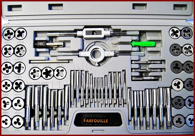 Juego de machos y terrajas de roscar 60 piezas Beast tools