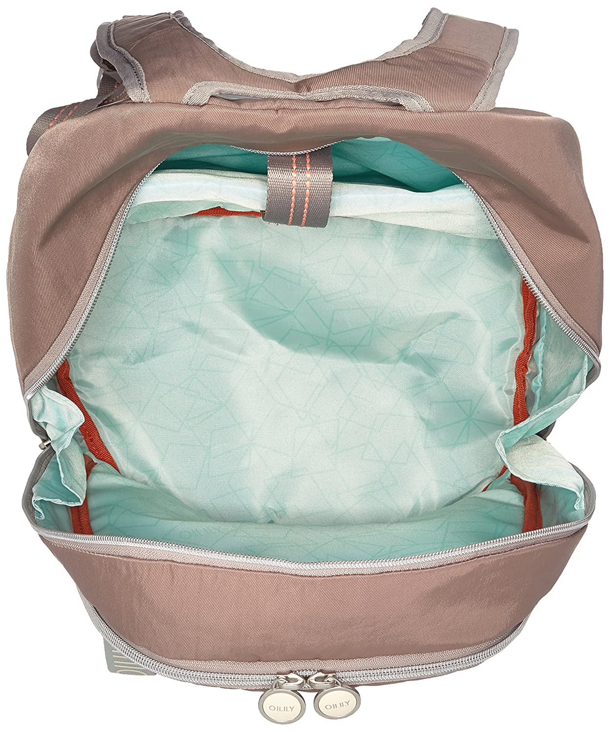 Oilily - Fun Nylon Backpack Lvz, Bolsos mochila Mujer, Beige (Taupe), 21x40x30 cm (B x H T): Amazon.es: Zapatos y complementos