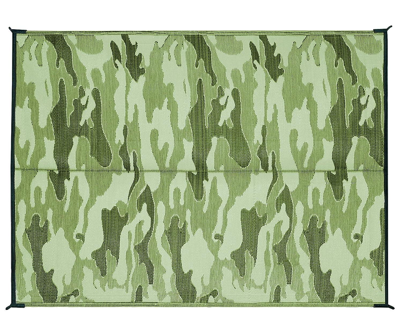 Camco 42830リバーシブルアウトドアマット(8 ' x 20 '、グリーン植物) 6' x 9' 42879 B01NADAVEJ 6' x 9'|Green Chevron