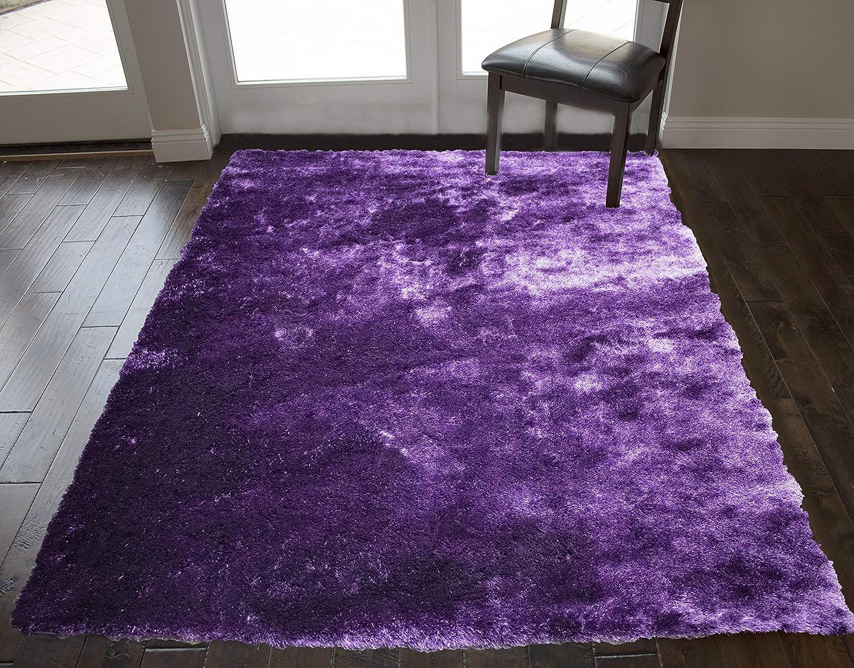Shaggy Shag Contemporary Soft Cozy 3d Shag Light Purple Dark Purple Color Area Rug Carpet Rug 8 Feet X 10 Feet Indoor Bedroom Living Room Decorative Designer Cozy Modern Decorative Designer
