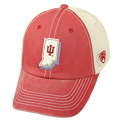 big sale 84a0d dee0a NCAA Indiana Hoosiers Adult United Adjustable Hat,Osfa,Crimson Tan