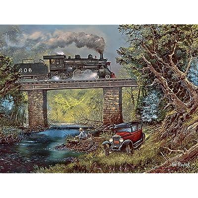 Blaylock - Rails on Dogwood Creek Jigsaw Puzzle, 750 Pieces: Toys & Games