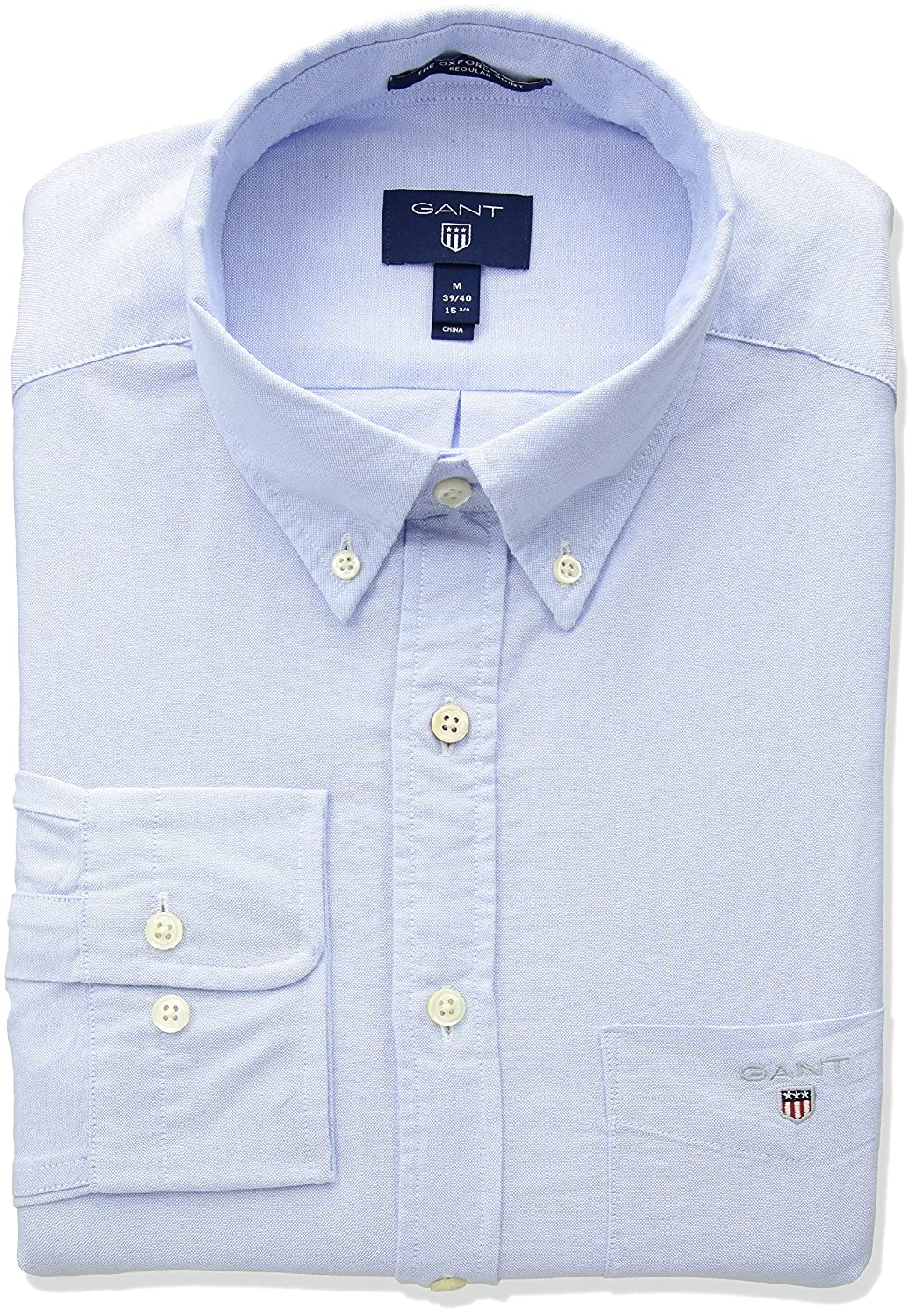 TALLA XL. Gant The Oxford Shirt Reg BD Camisa para Hombre