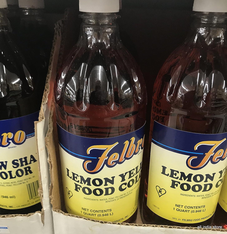 Amazon Com Liquid Food Coloring Lemon Yellow  Fl Ozs Also
