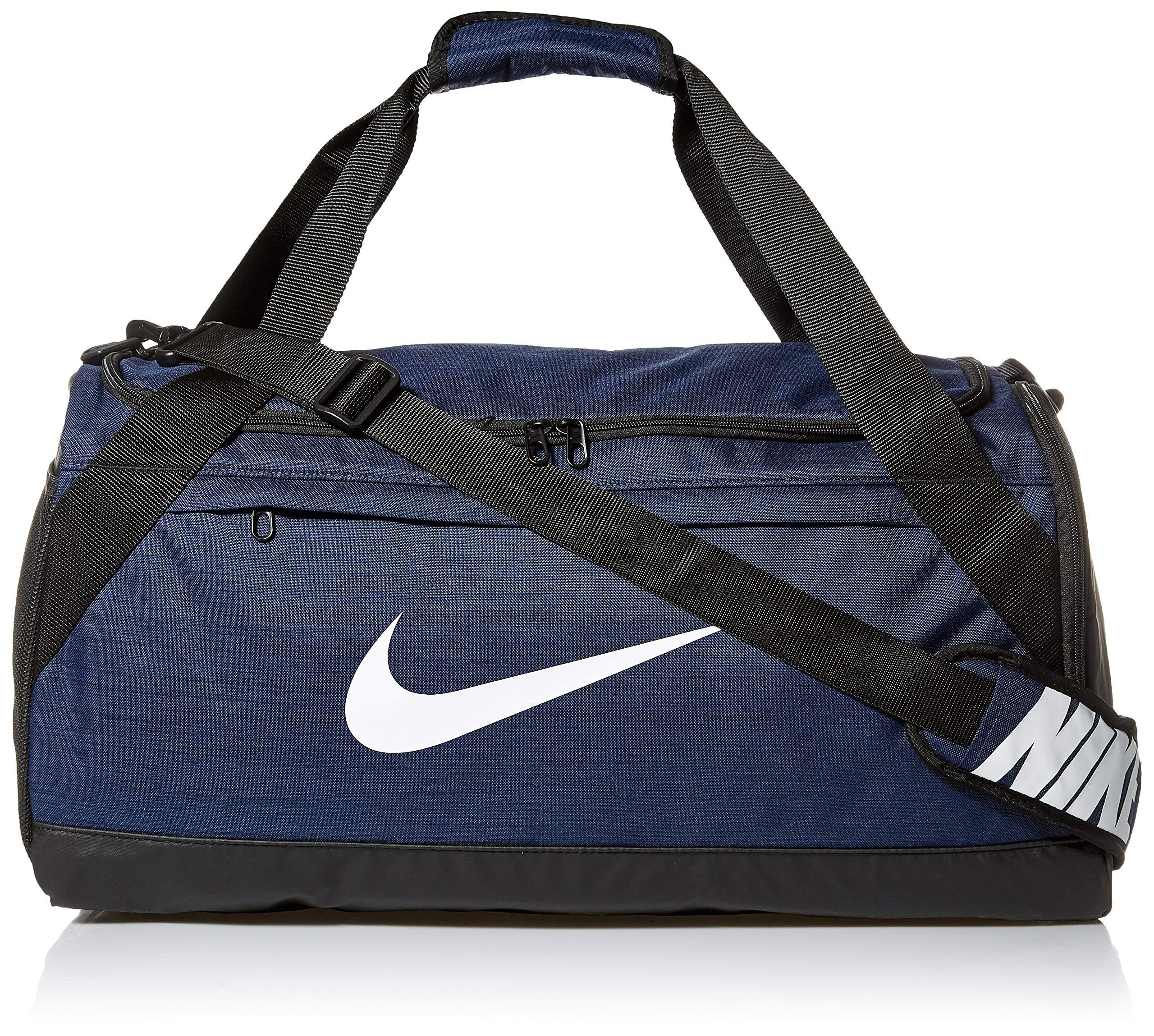 Nike Brasilia Medium Duffle, Midnight Navy/Black/White, Misc