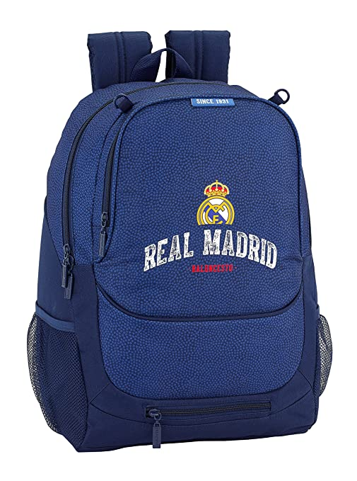 Safta Mochila Escolar Real Madrid Basket Oficial 320x160x440mm