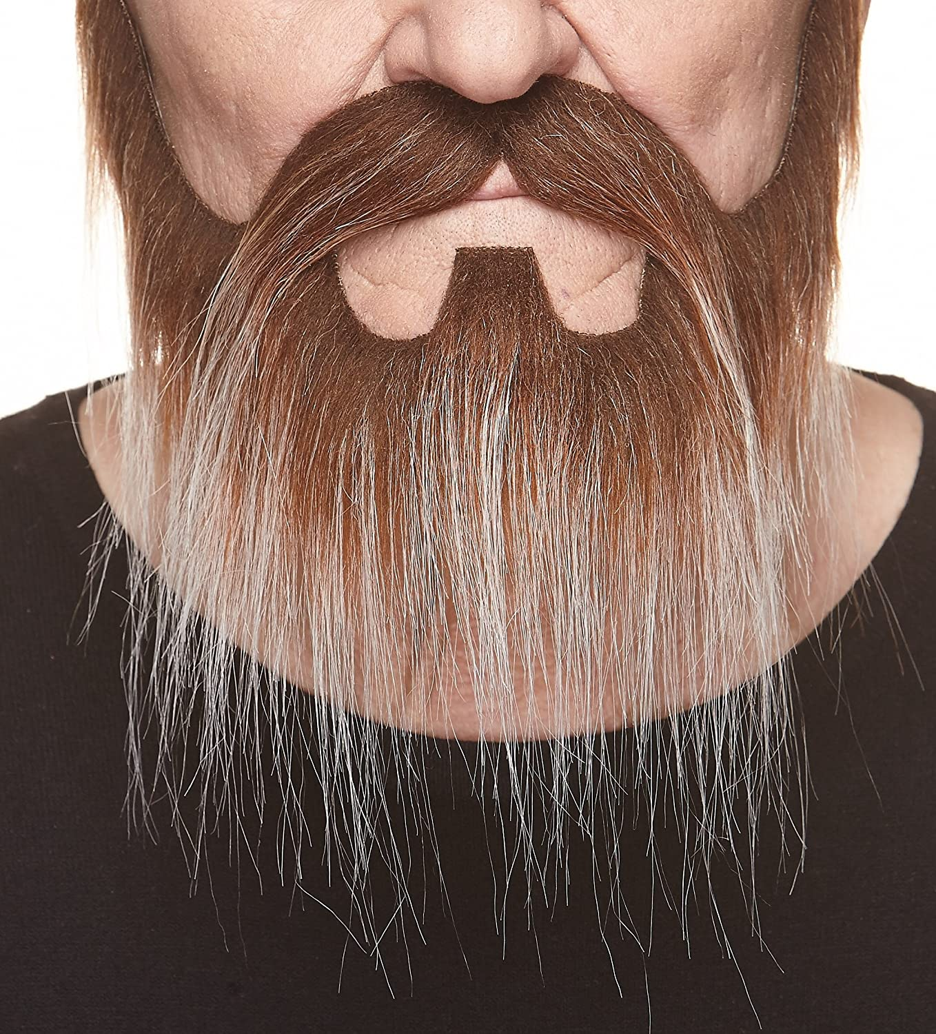 Mustaches Self Adhesive, Novelty, Nomad Fake Beard and Fake Mustache, False Facial Hair, Costume Accessory for Adults