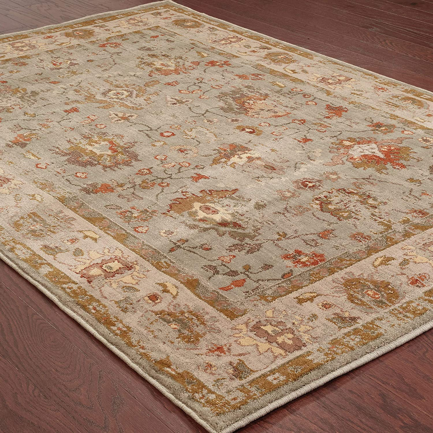 Christopher Knight Home CK-C6444 Cadence Oriental Border Indoor Area Rug 7ft 10in X 10ft 10in Blue,Grey