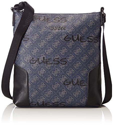 Guess Bags Crossbody, Sacs portés épaule homme, Noir (Black), 3x25x23.5 cm (W x H L)