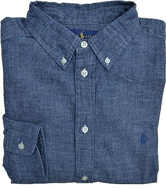 Ralph Lauren - Camisa - Liso - con botones - para niño azul ...