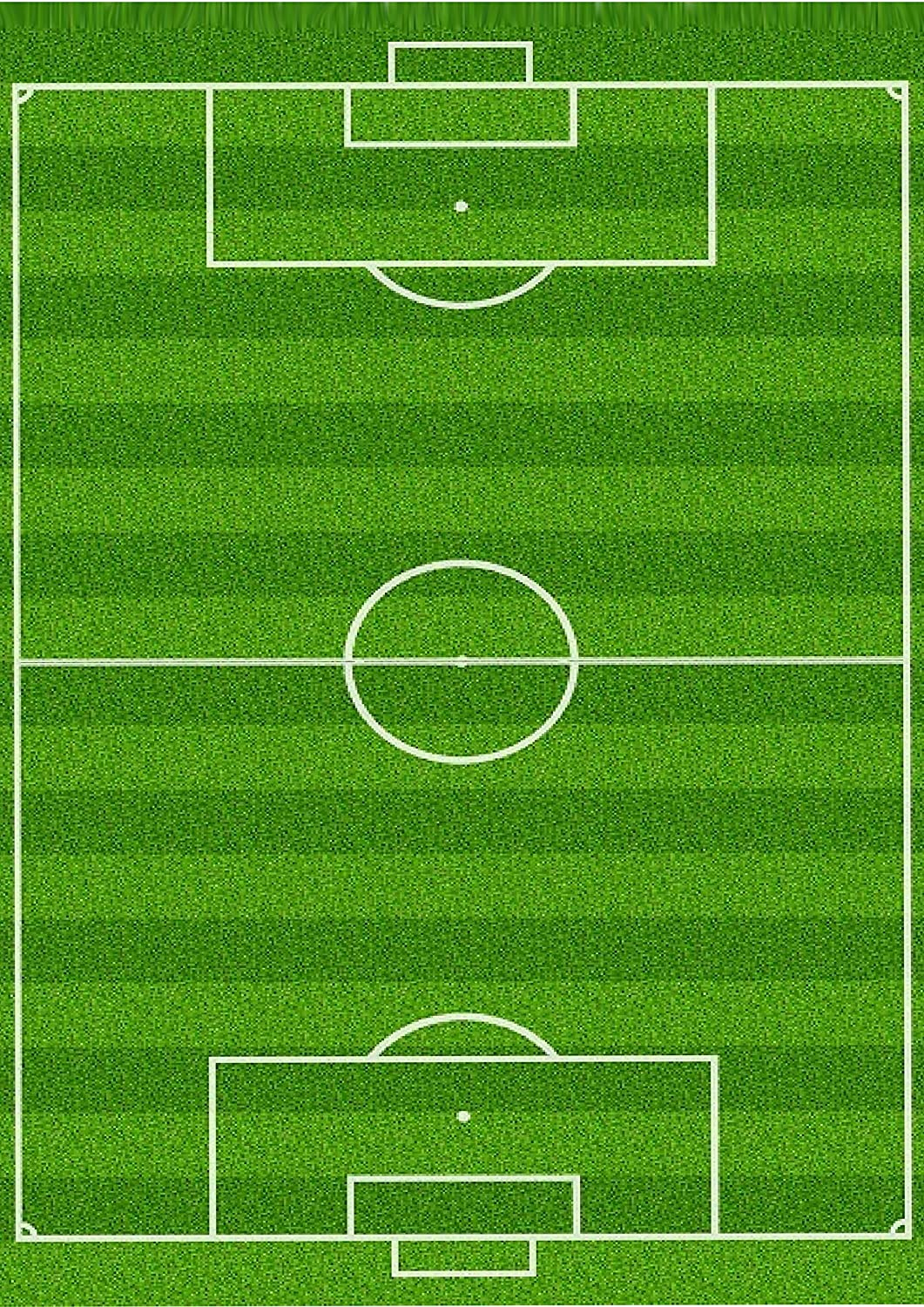 1 x A4 Printed Football Pitch Wallpaper Decor Icing Sheet Edible Cake Topper Decorated Sheet - Perfect for Large Cakes to create a football scene Top That