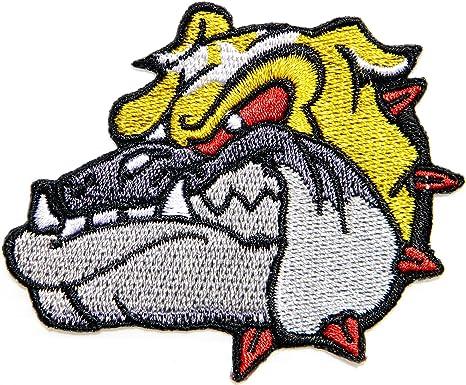 Head Pitbull Bulldog Mad Dog Logo Rider Biker Tatoo - Parche para camiseta, para coser o planchar, insignia bordada: Amazon.es: Juguetes y juegos