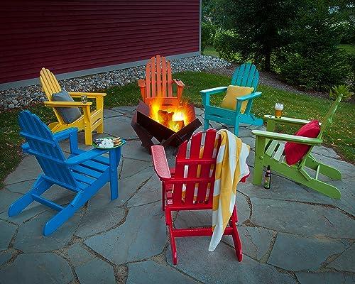 POLYWOOD AD5030AR Classic Folding Adirondack Chair, Height 35.00 – Width 29 – Depth 35.00 , Aruba