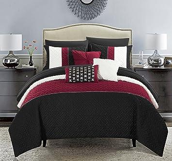 Amazoncom Chic Home Osnat 10 Piece Comforter Set Color Block