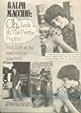 Ralph Macchio original 1pg 8x10 clipping magazine
