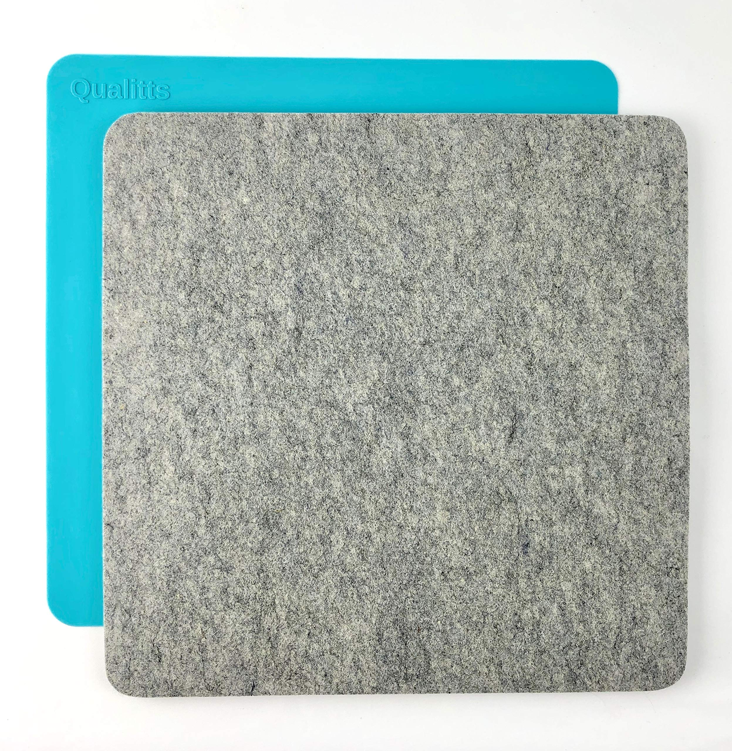 Wool Pressing Mat   14'' x 14'' x 1/2''   100% New Zealand Wool Ironing Pad with SteamShield Silicone Mat Steam Protector   The Perfect Portable Felted Ironing Board Station for Quilters by Qualitts by Qualitts