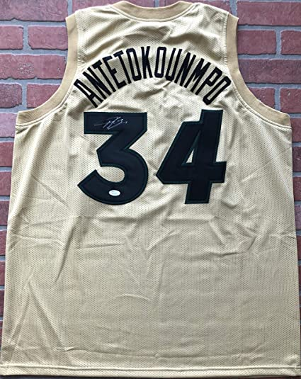 Image Unavailable. Image not available for. Color  Giannis Antetokounmpo  autographed signed jersey NBA Milwaukee Bucks JSA 3f901ef48