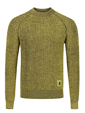 LUKE 1977 Mens Plated Long Sleeve Crew Neck Ribbed Jumper  Luke 1977   Amazon.co.uk  Clothing 59f48b1be
