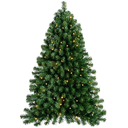 Werchristmas Pre Lit Wall Mounted Christmas Tree With 50 Warm White Led Lights 3 Feet 0 9 M Green