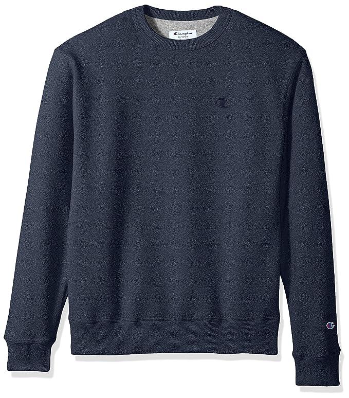 Champion Men's Powerblend Fleece Pullover Sweatshirt, Navy Heather, X Large best men's sweatshirt