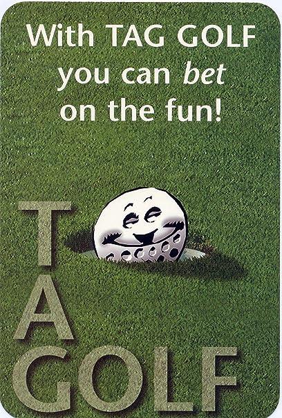 Amazon.com: Etiqueta Golf 0001 – 95 Golf juego de cartas ...