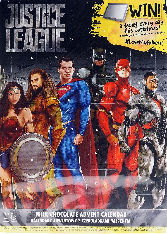 Justice League DC Christmas Chocolate Advent Calendar: Amazon.co.uk ...