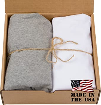 2 Pack Cotton Fitted Baby Crib Sheets 100% USA Made U2013 Fits Standard 52u201d