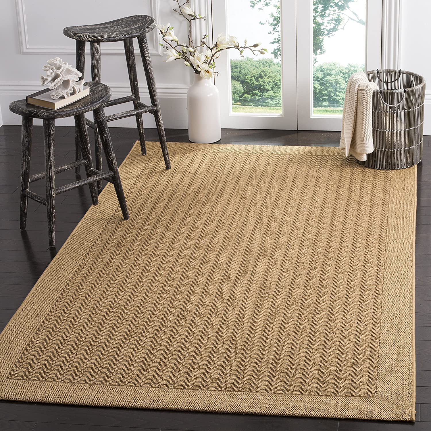 Amazon Com Safavieh Palm Beach Collection Pab321m Sisal Jute Area Rug 5 X 8 Maize Furniture Decor