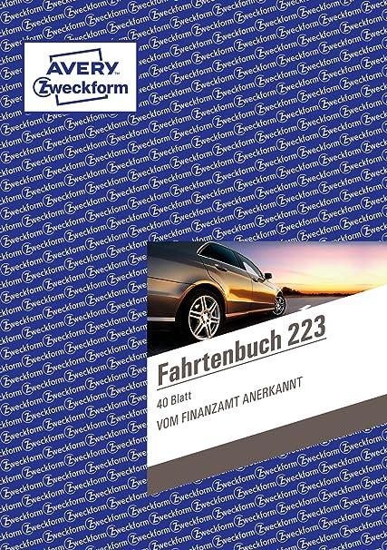 5 Fahrtenbücher Avery Zweckform 223 Fahrtenbuch DIN A5
