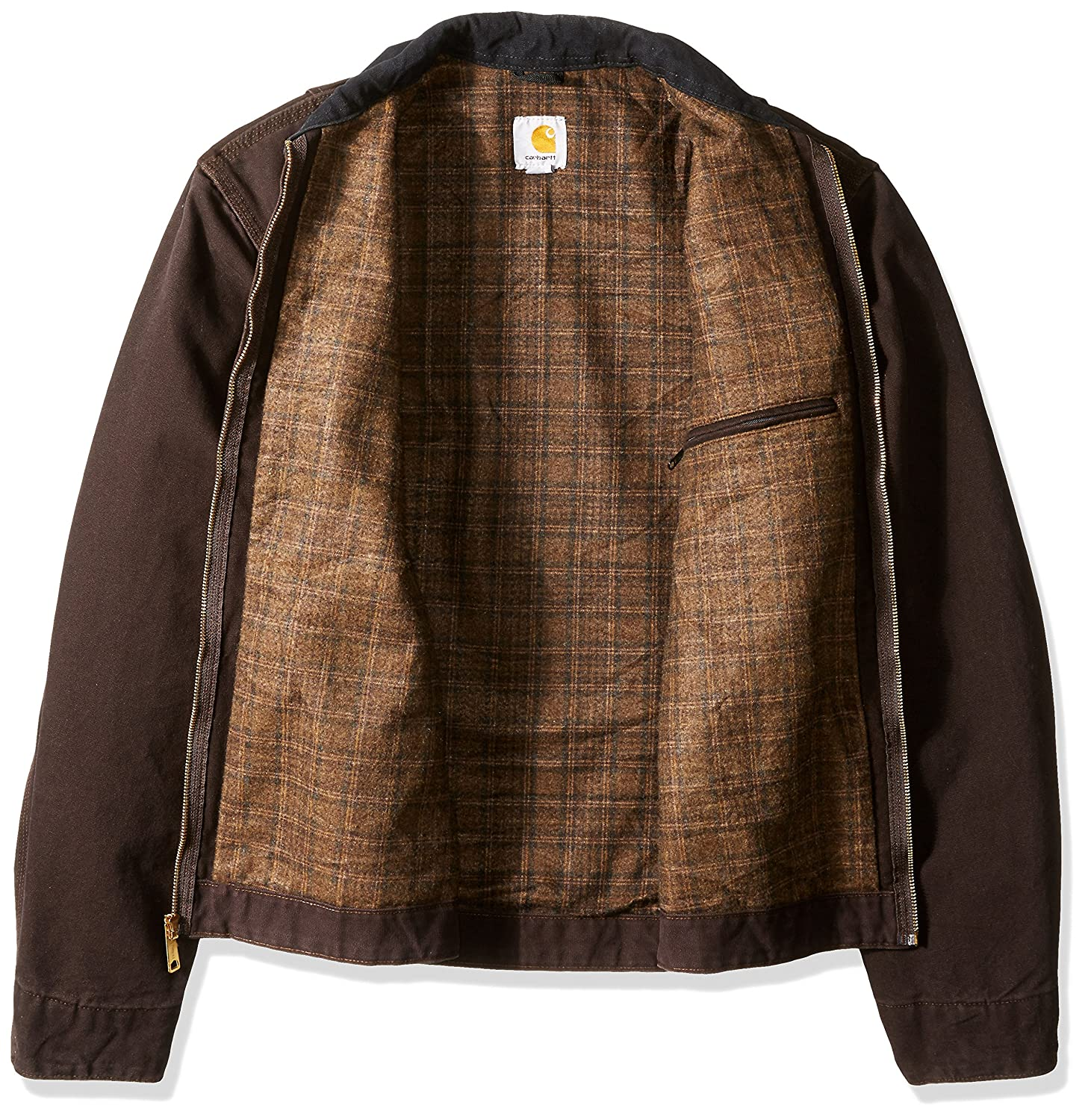 267773a1316 Amazon.com  Carhartt Men s Big   Tall Blanket Lined Sandstone Detroit Jacket  J97  Clothing
