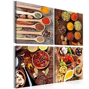 Amazon.de: Murando® Bild | Küche 40 x 40 cm | Bild auf ...