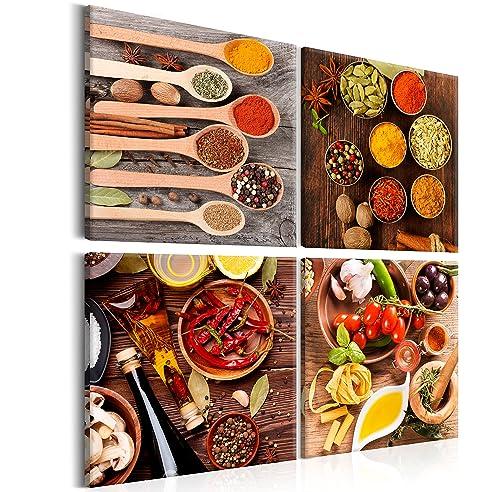 Murando - Bilder Küche 80X80 Cm - Leinwandbilder - Fertig