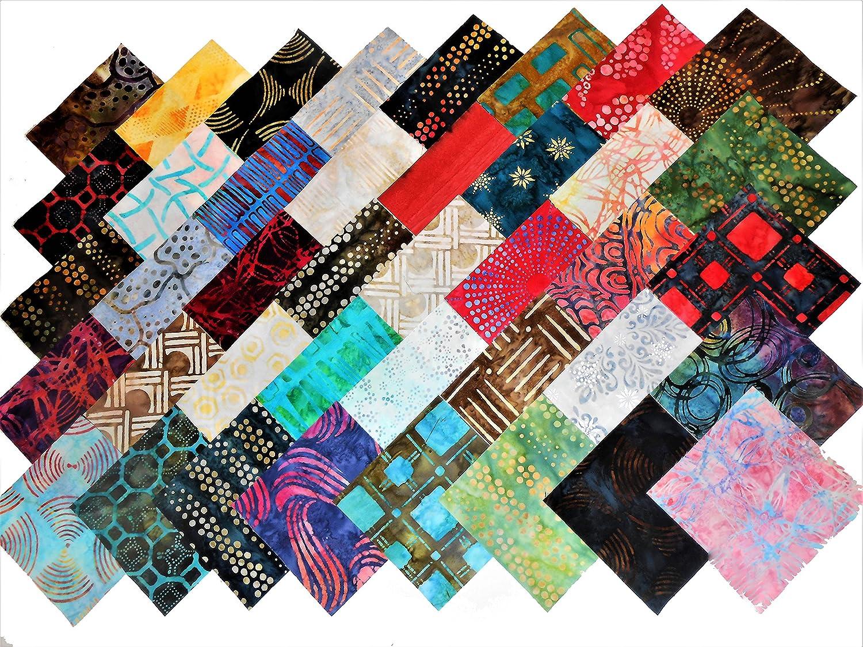 """40 5/"""" Quilting Fabric Squares Beautiful Batiks # 1 20//Colorways"""