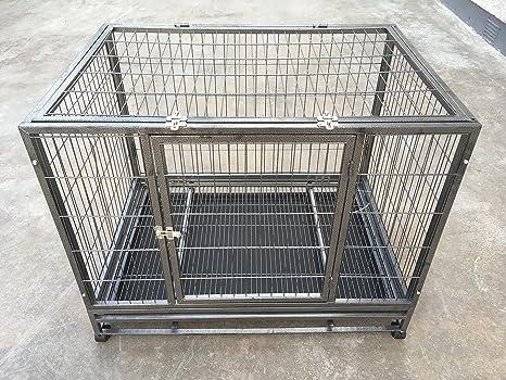 RayGar mascota perro Crate Caseta Caja portable Jaula Carrier con ruedas grande – nuevo
