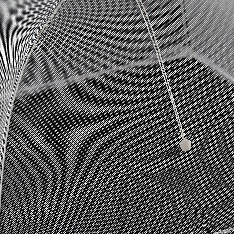 youtu 4 St/ück Speiseschirm,Fliegenhaube,Abdeckung f/ür Speisen,Insektenschutzhaube,Lebensmittel Abdeckung Zelt f/ür Drau/ßen /& Zuhause,42 x 42 x 25 cm wei/ß