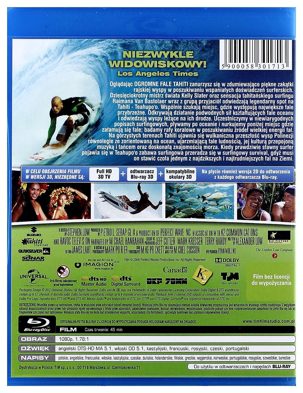 Ogromne Fale Tahiti 3D Blu-Ray 3D No hay versi243;n espa241;ola: Amazon.es: Michael Hanrahan, Kalani Miller, Kelly Slater, Raimana Van Bastolear, ...