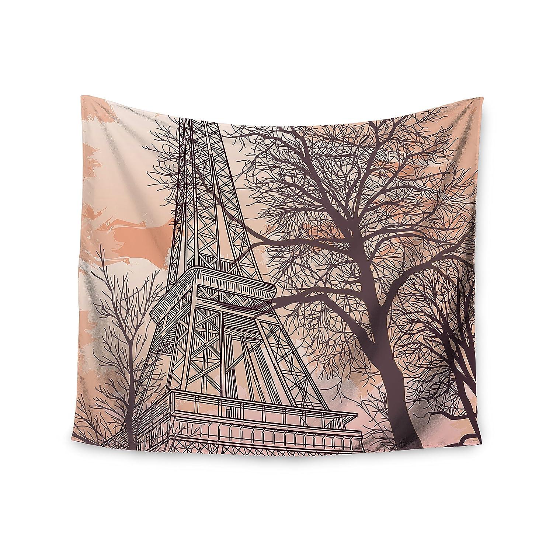 68 X 80 Kess InHouse Sam Posnick Eiffel Tower Wall Tapestry