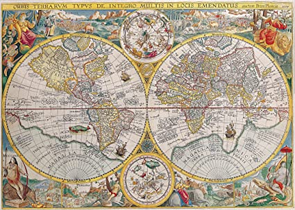 Amazon.: Gifts Delight Vintage Old World Map Antique Art