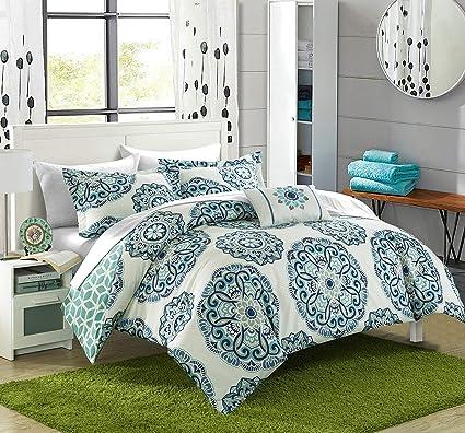 Amazon.com: Chic Home Barcelona 8 Piece Reversible Comforter Set ...