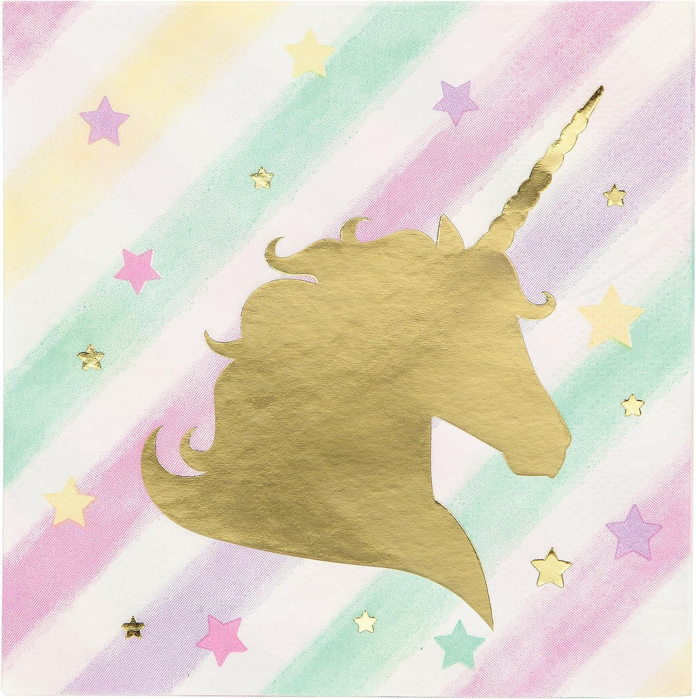 Sparkle Unicorn Beverage Napkins, 48 ct
