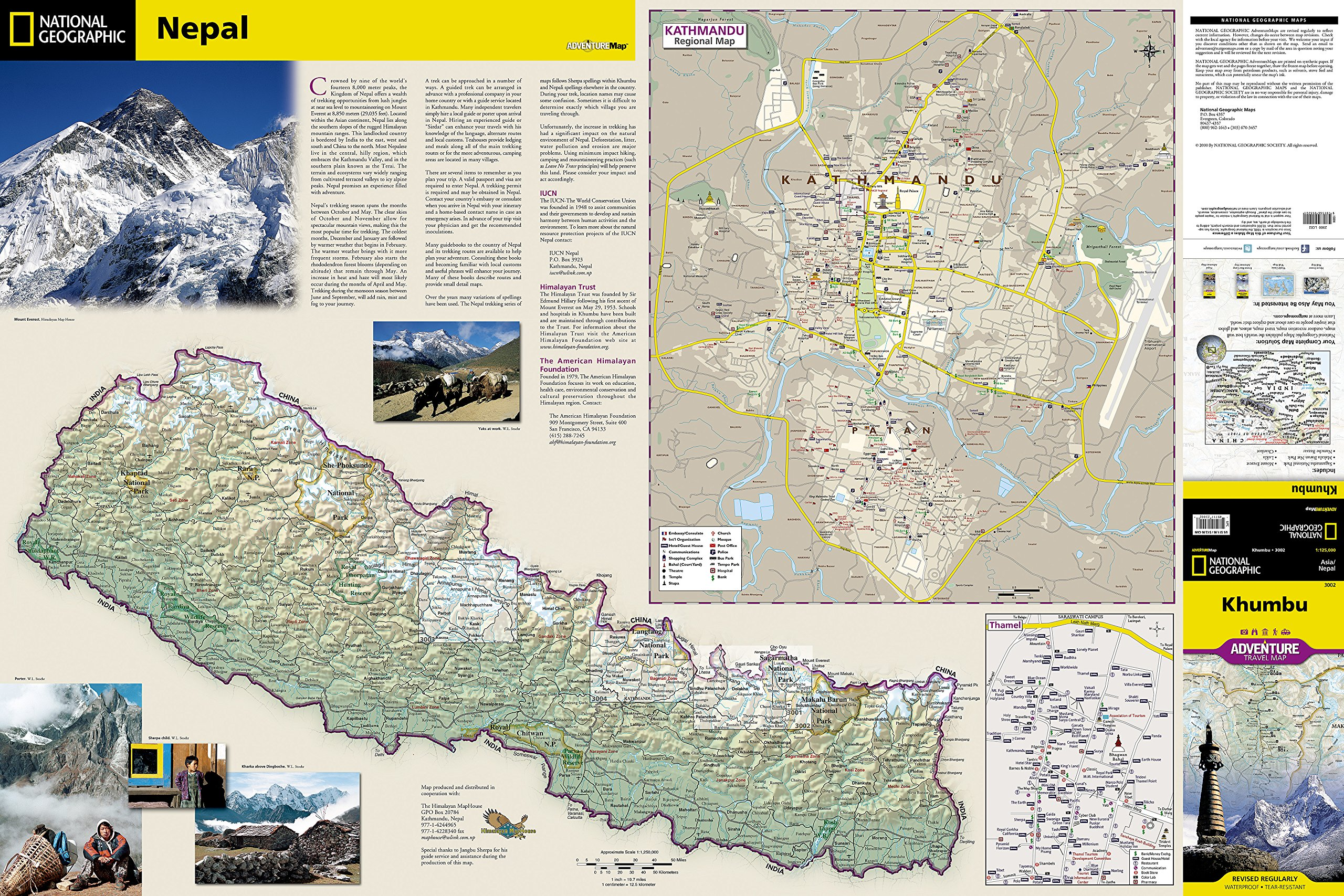 Khumbu nepal national geographic adventure map national khumbu nepal national geographic adventure map national geographic maps adventure 9781566955201 amazon books gumiabroncs Image collections