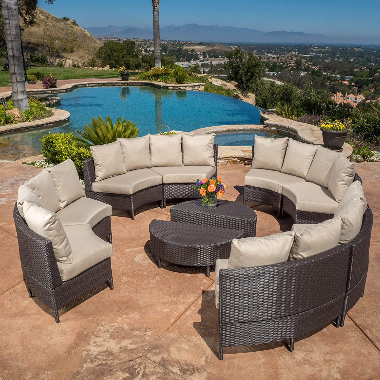 Amazon Venice Outdoor 10pcs Wicker Sofa Sectional Set