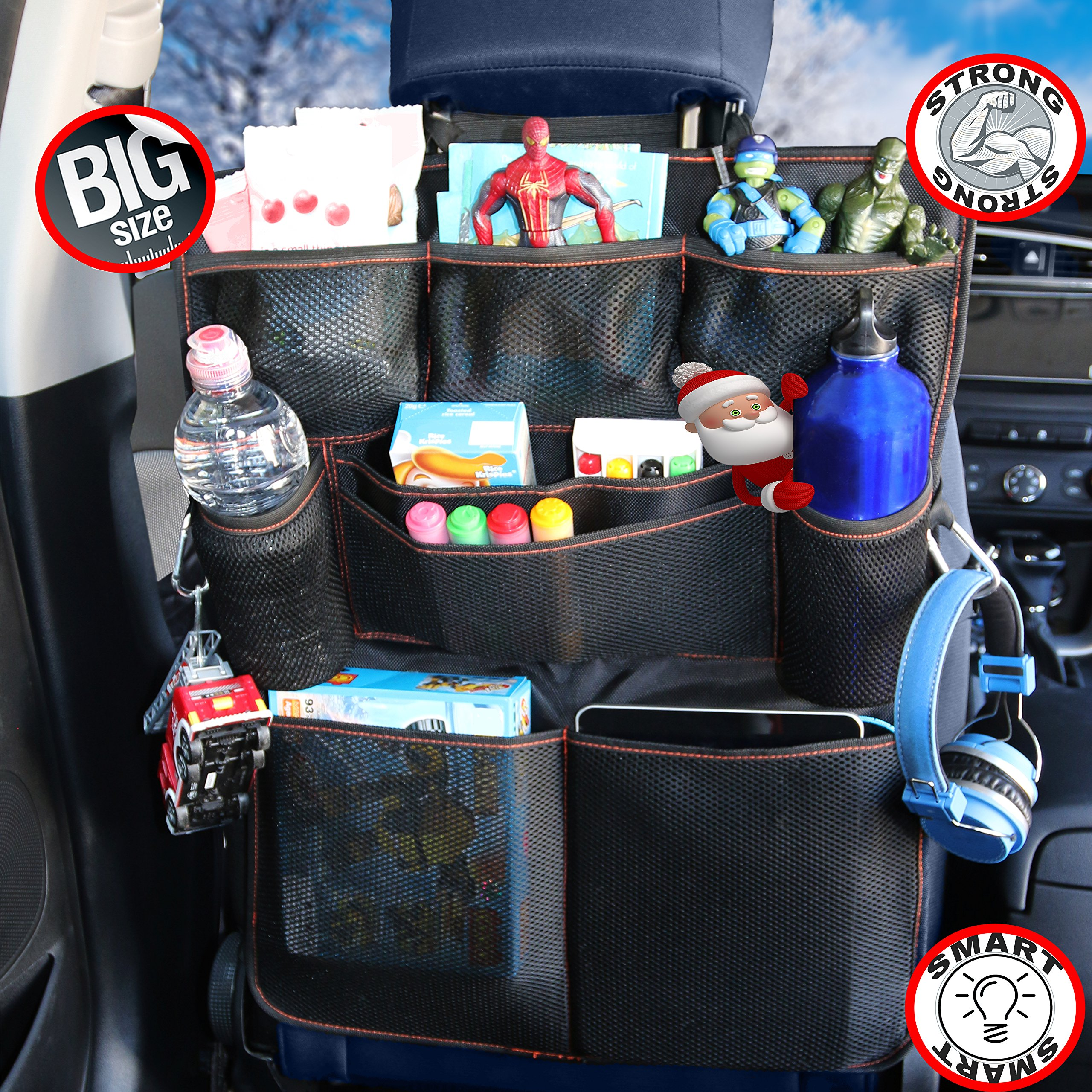 eco friendly multifunction seating. B-comfort Car Back Seat Organizers-Excellent Travel Accessory For Kids-Multi Pockets Eco Friendly Multifunction Seating