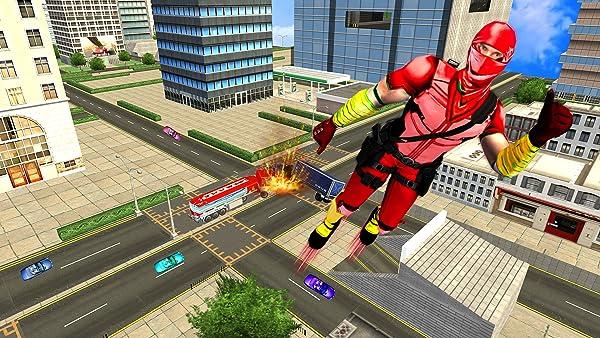 Flying Ninja Super Speed Hero Real Gangster Chase:Amazon ...