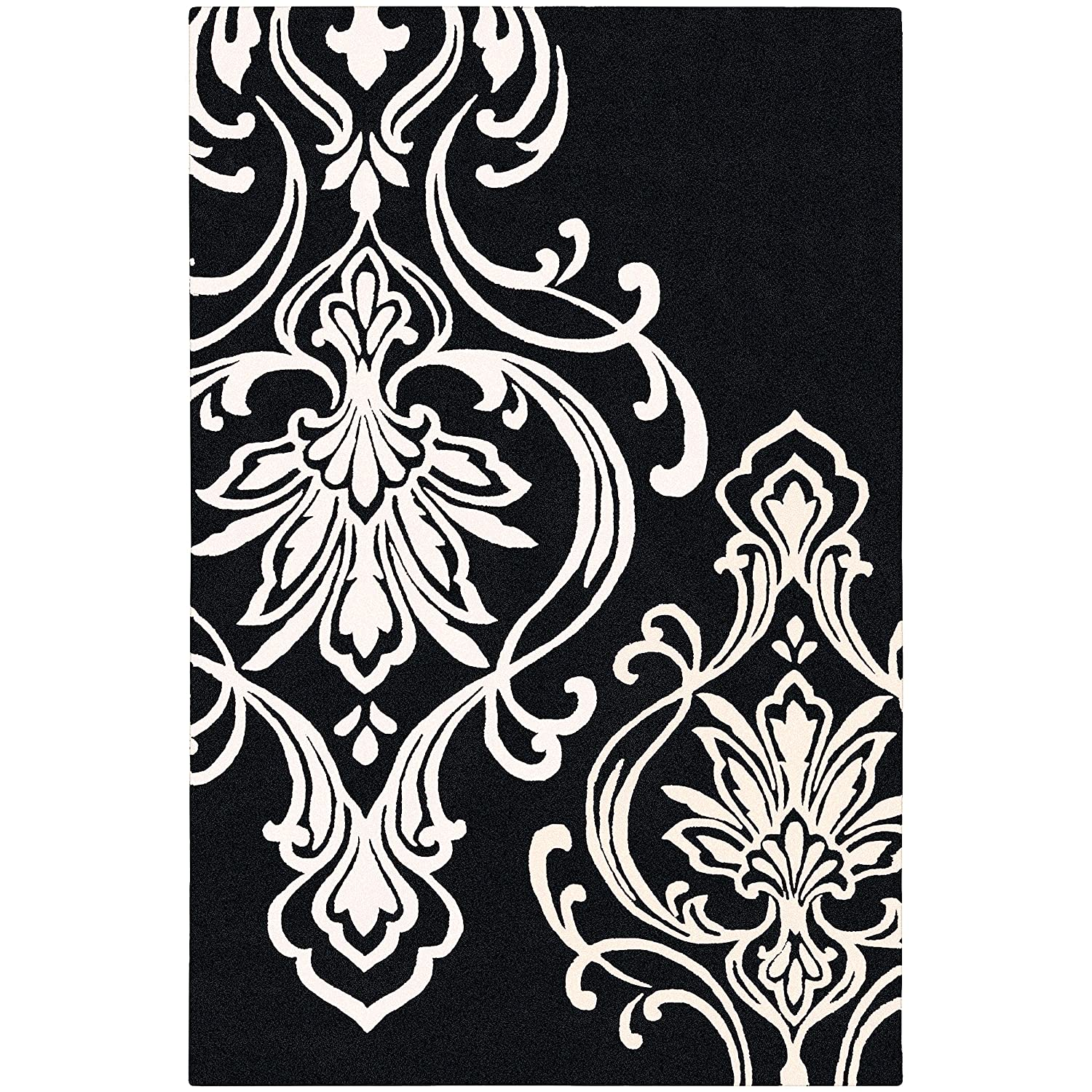 Amazon.com: Candice Olson By Surya Modern Classics CAN 1951 Classic Hand  Tufted 100% New Zealand Wool Coal Black 5u0027 X 8u0027 Paisleys And Damasks Area  Rug: ...