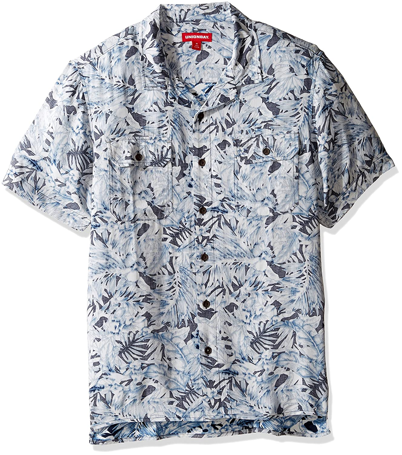 UNIONBAY Men's Classic Short Sleeve Rayon Button-up Woven Shirt Unionbay Young Men's Y13049U